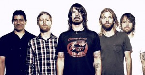 Foo Fighters med Dave Grohl i spetsen.